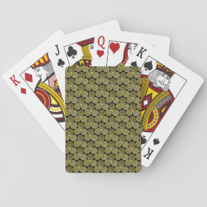 Triple spiral Live Love Laugh Gold Playing Cards