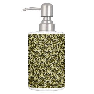 Triple Spiral Live Love Laugh Gold Soap Dispenser U0026amp; Toothbrush Holder