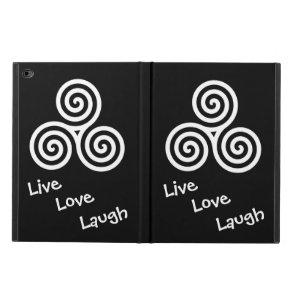 Triple spiral Live Love Laugh White Swirls Powis iPad Air 2 Case