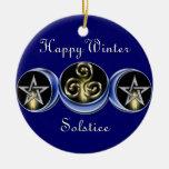 Triple Spiral Lunar Moon Tree Ornament circle