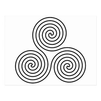 Triple Spiral Symbol Postcard