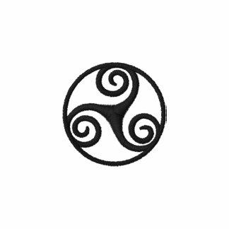 Triple Spiral (Triskele) Celtic Embroiderd Polo