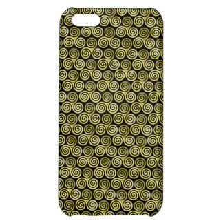 Triple spiral triskele Celtic Khaki Beige iPhone 5C Case