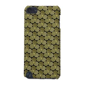 Triple spiral triskele Celtic Khaki Beige iPod Touch (5th Generation) Case