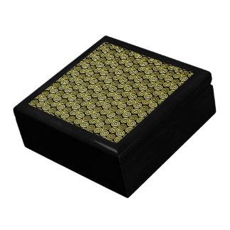 Triple spiral triskele Celtic Khaki Beige Jewelry Box