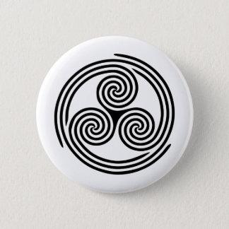 Triple Spiral Triskelion Button