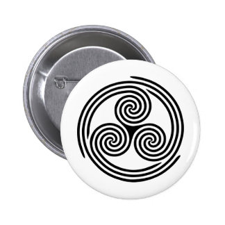 Triple Spiral Triskelion Button