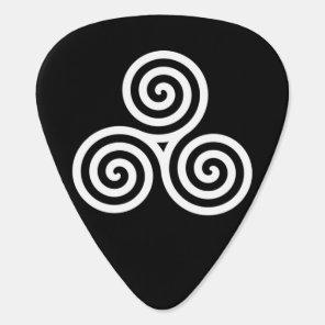 Triple spiral White Guitar Pick