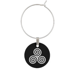 Triple spiral White Wine Charm