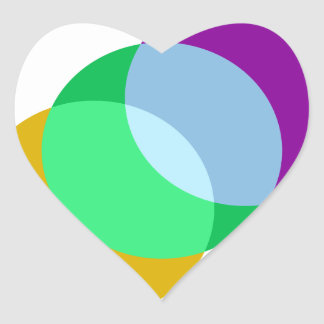 Triple Spot Overlap Heart Sticker