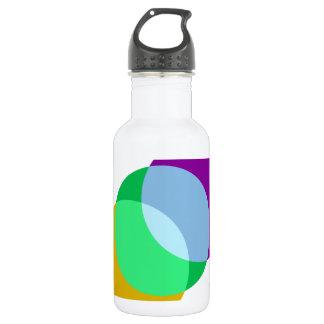 Triple Spot Overlap Stainless Steel Water Bottle