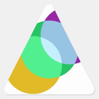 Triple Spot Overlap Triangle Sticker