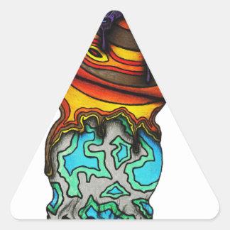 Triple Stack Triangle Sticker
