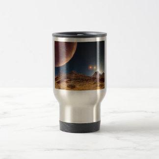 Triple Star Sunset From An Alien Planet Travel Mug