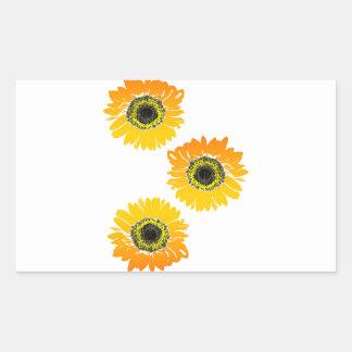 Triple Sunflowers Rectangular Sticker