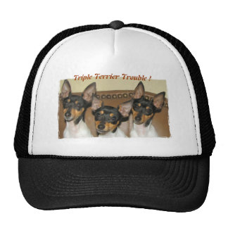 Triple Terrier Trouble Trucker Hat