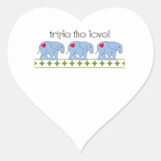 Triple The Love! Heart Sticker