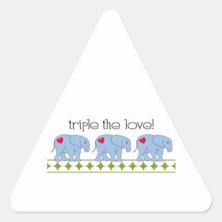 Triple The Love! Triangle Sticker