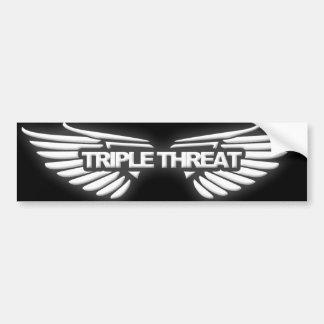 Triple Threat Bumper Sticker