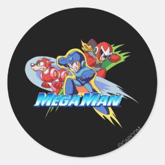 Triple Threat Classic Round Sticker