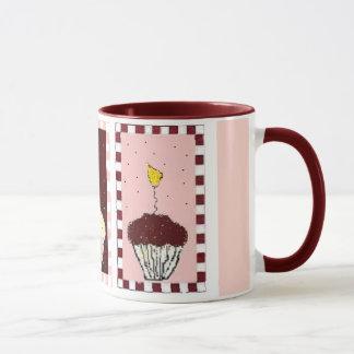 """triple threat"" cupcake mug"