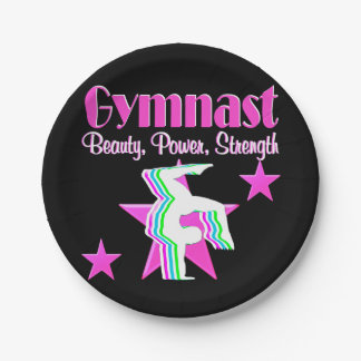 TRIPLE THREAT GYMNAST PAPER PLATE