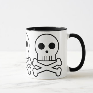 Triple Threat Pirate Skulls Coffee Cup Mug 1