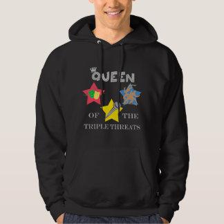 Triple Threat Queen Dark Hoodie