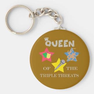 Triple Threat Queen Keychain