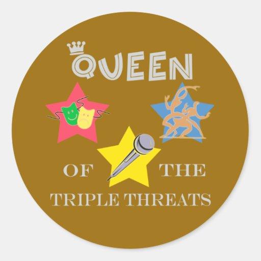 Triple Threat Queen Stickers