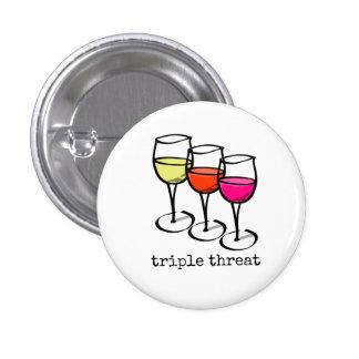 Triple Threat Wine Glasses Button