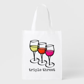 Triple Threat Wine Glasses Market Tote