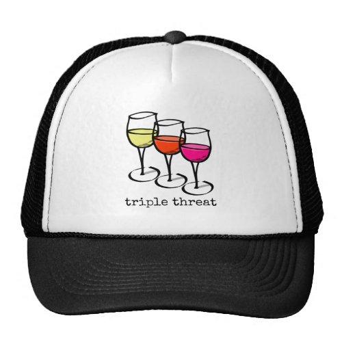 Triple Threat Wine Glasses Trucker Hat