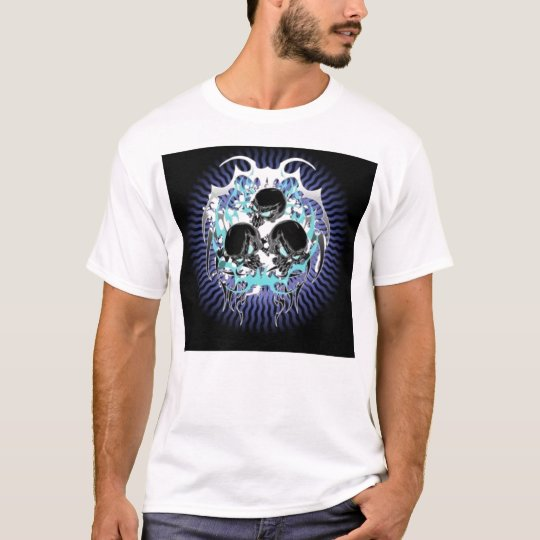 Triple Tribal Skull T-shirt