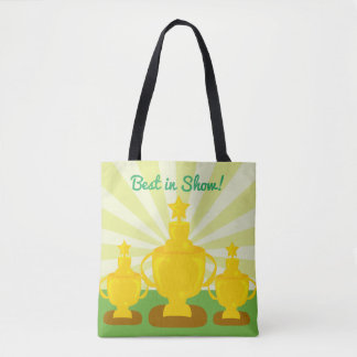 Triple Trophy Custom Tote Bag