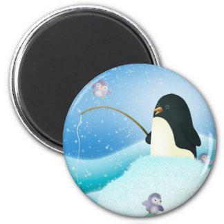 Triple trouble penguins - magnet