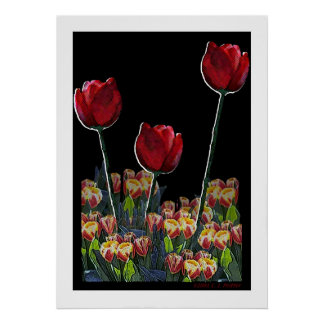 'Triple Tulips 2.1' Poster