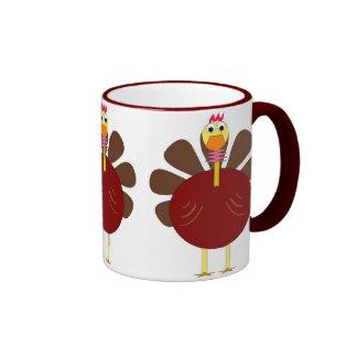 Triple Turkey Thanksgiving Coffee Mug