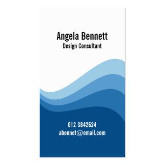 Triple Wave Dark Blue Business Card