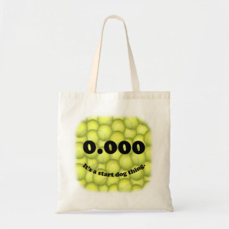 Triple Zero, 0.000, Flyball Budget Tote Tote Bags