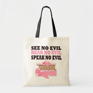 Triplet African Amercian (Speak Hear See No Evil ) Canvas Bags