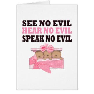Triplet African Amercian (Speak Hear See No Evil ) Card