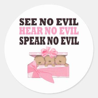 Triplet African Amercian (Speak Hear See No Evil ) Sticker