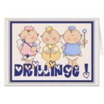 Triplet angel greeting cards