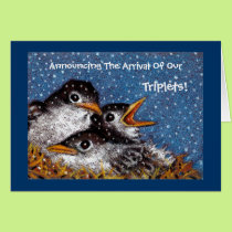 TRIPLET BIRTH ANNOUNCEMENT CARDS