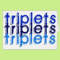 Triplet Boys Card