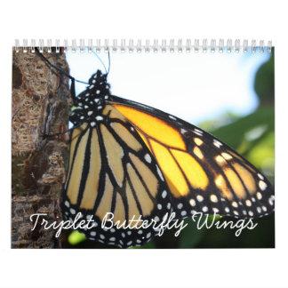 Triplet Butterfly Wings Calendar