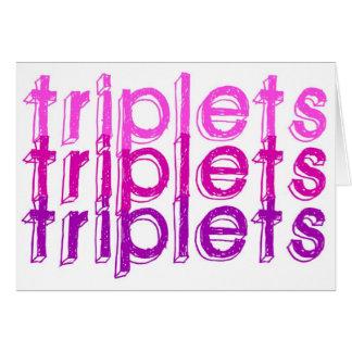 Triplet Girls Card