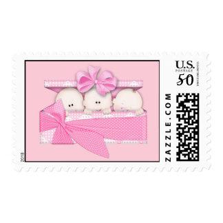 Triplet Girls Postage Stamps