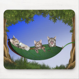 Triplet kitty babies mouse pad